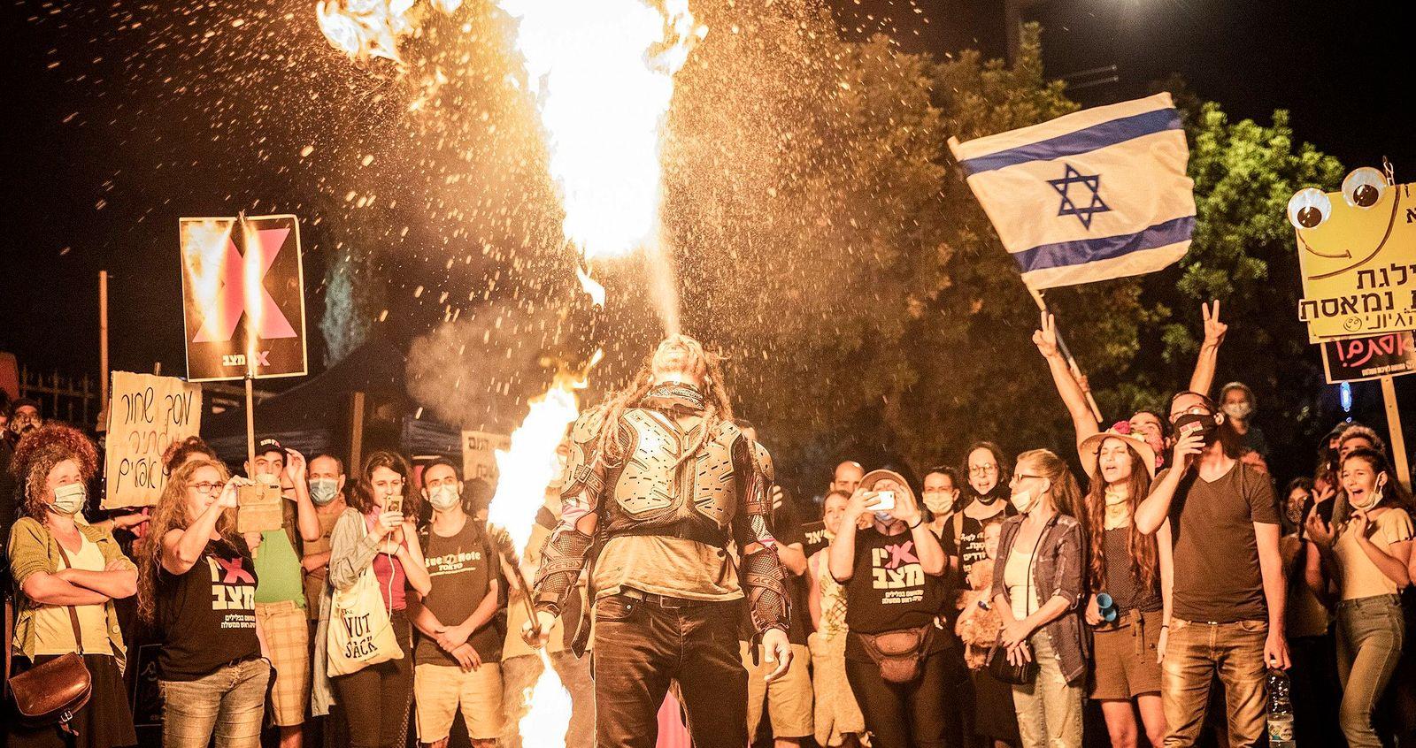 Protest gegen den israelischen Premierminister