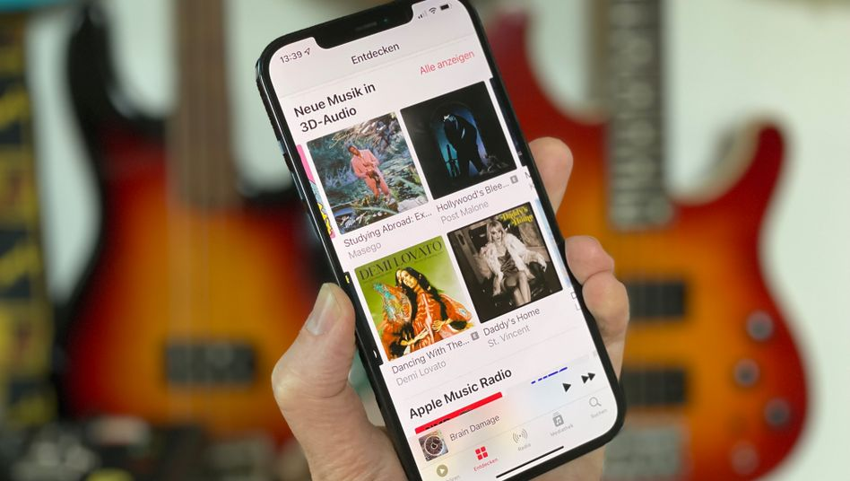Apples Music-App mit Titeln in 3D-Audio