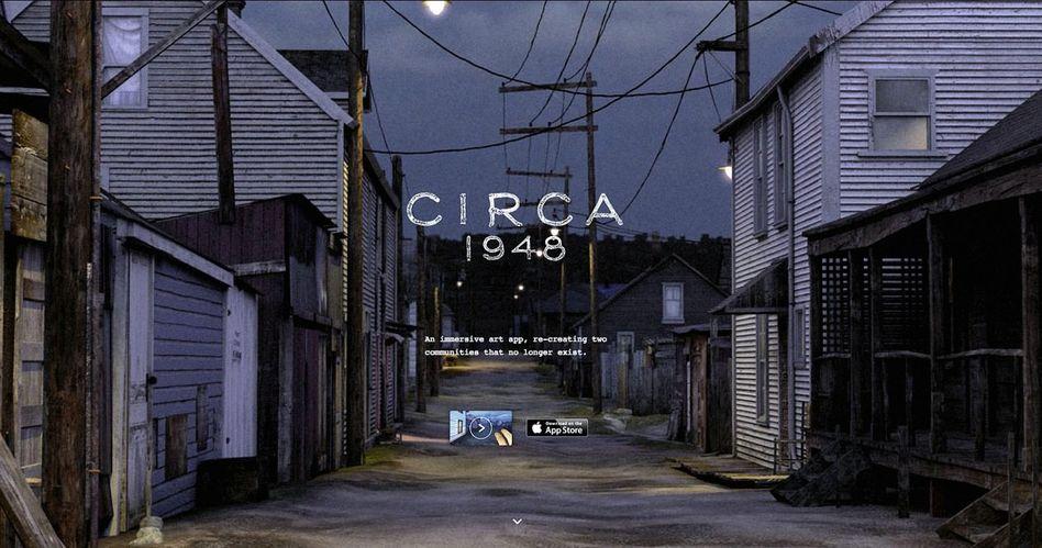 »Circa 1948« erinnert an die Nachkriegszeit inKanada. Die App führt die Nutzer ins einstige Vancouver, auch ins Rotlichtmilieu.