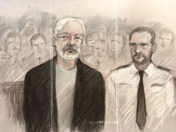 Im Gerichtssaal wurde ein Brief von Assange vorgelesen