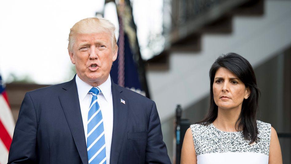 Donald Trump mit Uno-Botschafterin Nikki Haley
