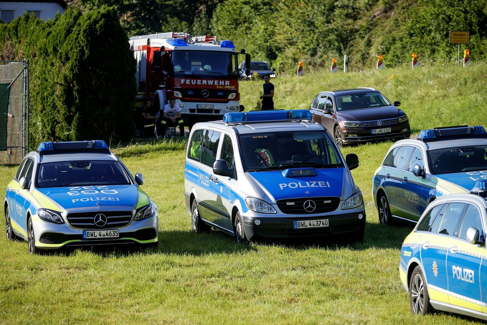 Police searches armed man in Oppenau forest area, Germany - 12 Jul 2020
