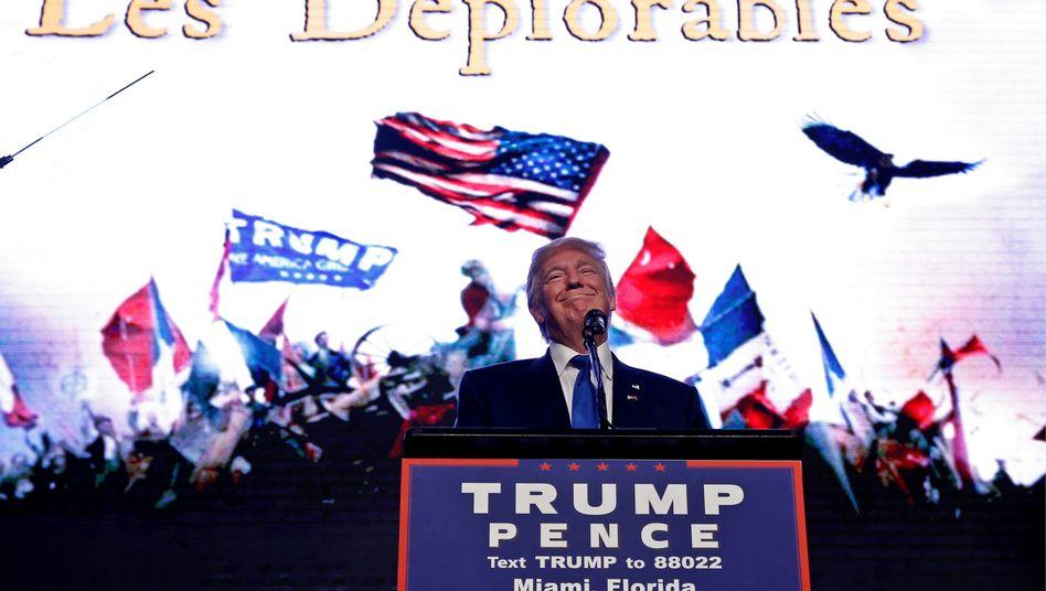 Donald Trump bei einer Wahlkampfveranstaltung in Miami, Florida
