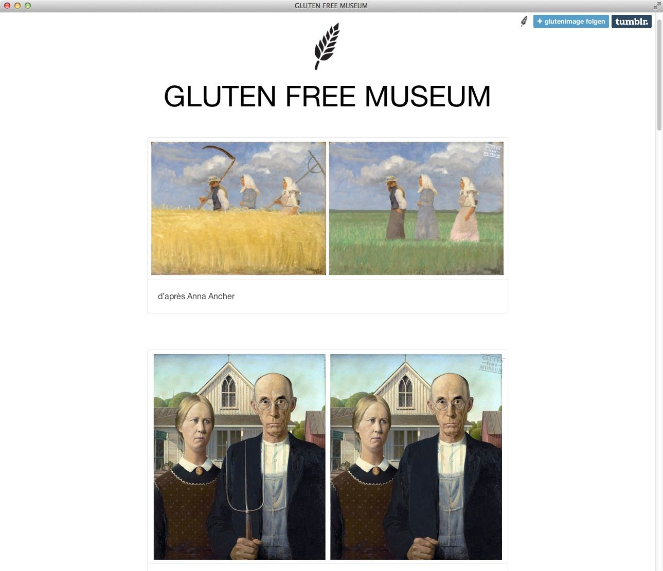 Screenshot/ Gluten Free Museum
