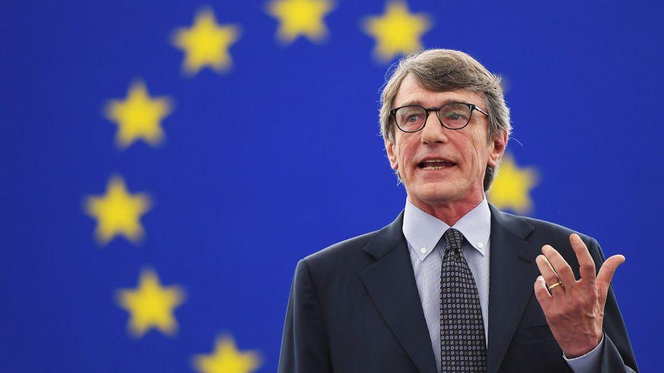 EU-Parlamentspräsident Sassoli