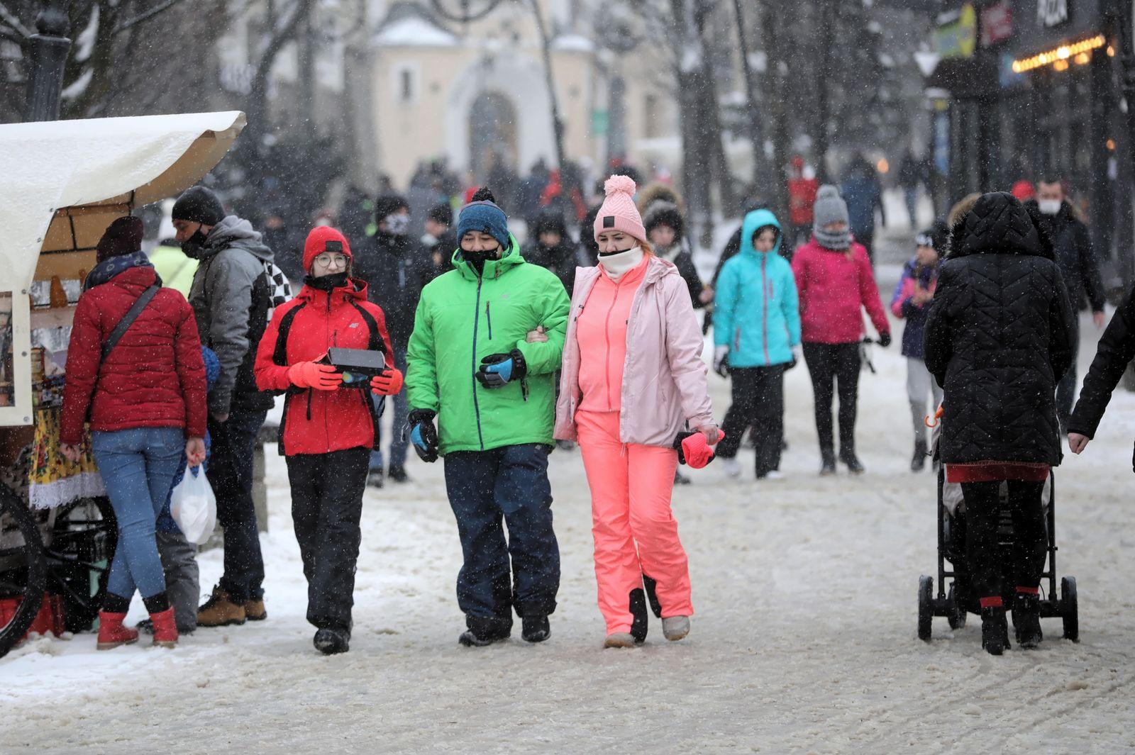Tourism in Poland, Zakopane - 17 Feb 2021