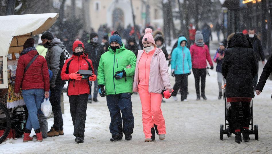 Touristen in Zakopane