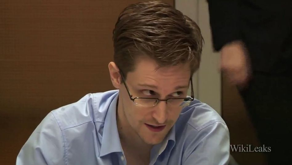 Edward Snowden (Video-Screenshot): Rektor in Abwesenheit