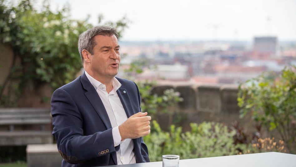 """Markus Söder (CSU), Ministerpräsident von Bayern, beim """"ZDF-Sommerinterview"""""""