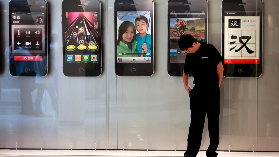 Apple in Shanghai: Viele Chinesen machen sich über die Vorwürfe lustig