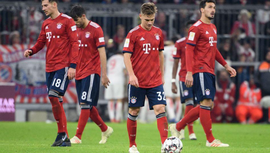 Bayern-Spieler nach dem späten Ausgleich