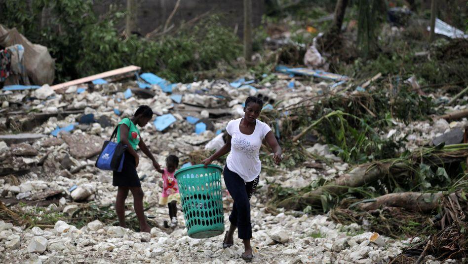 Eingestürzte Häuser auf Haiti (Oktober 2016)