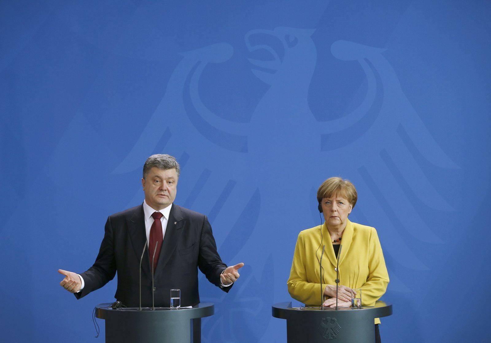 Merkel / Poroschenko / PK