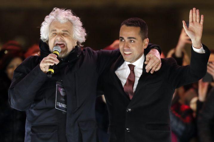Beppe Grillo und Luigi Di Maio