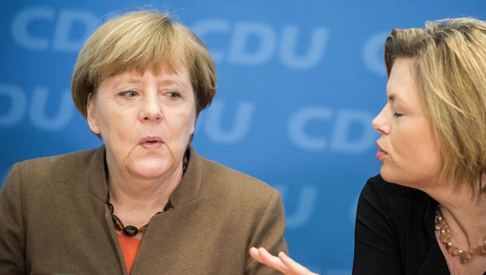 """Kanzlerin Merkel, CDU-Spitzenkandidatin Klöckner: """"Frage des gesunden Menschenverstandes"""""""