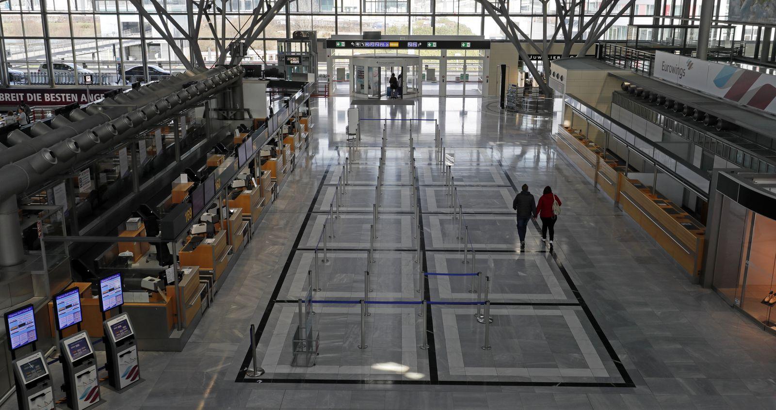 Stuttgart Internal Airport due the Coronovirus pandemic, Germany - 14 Mar 2020