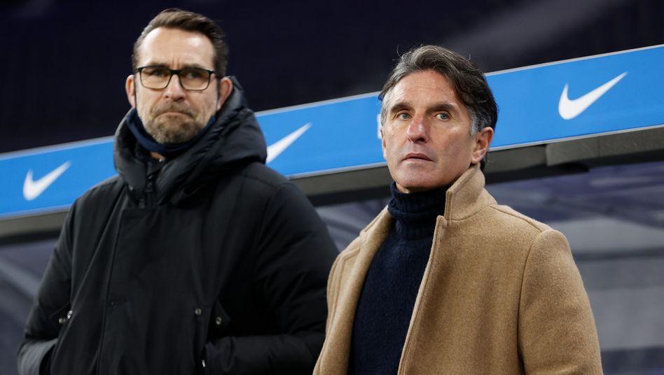 Gemeinsames Aus: Hertha BSC trennt sich von Manager Michael Preetz (links) und Coach Bruno Labbadia