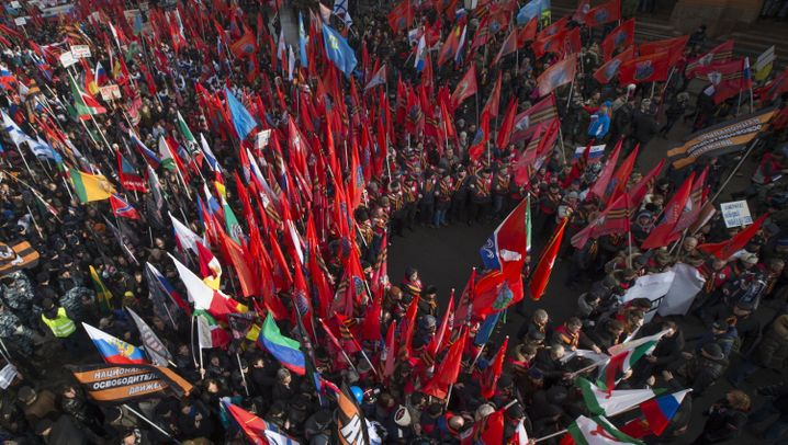 Moskau: Russlands Anti-Maidan-Bewegung demonstriert