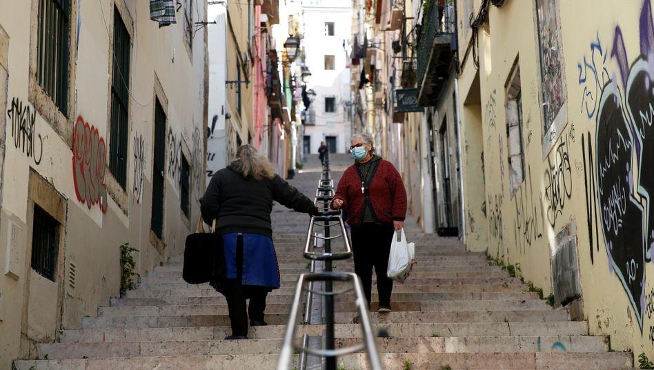 Lissabon vor der Ankündigung der Regierung: Portugal geht wieder in den Lockdown