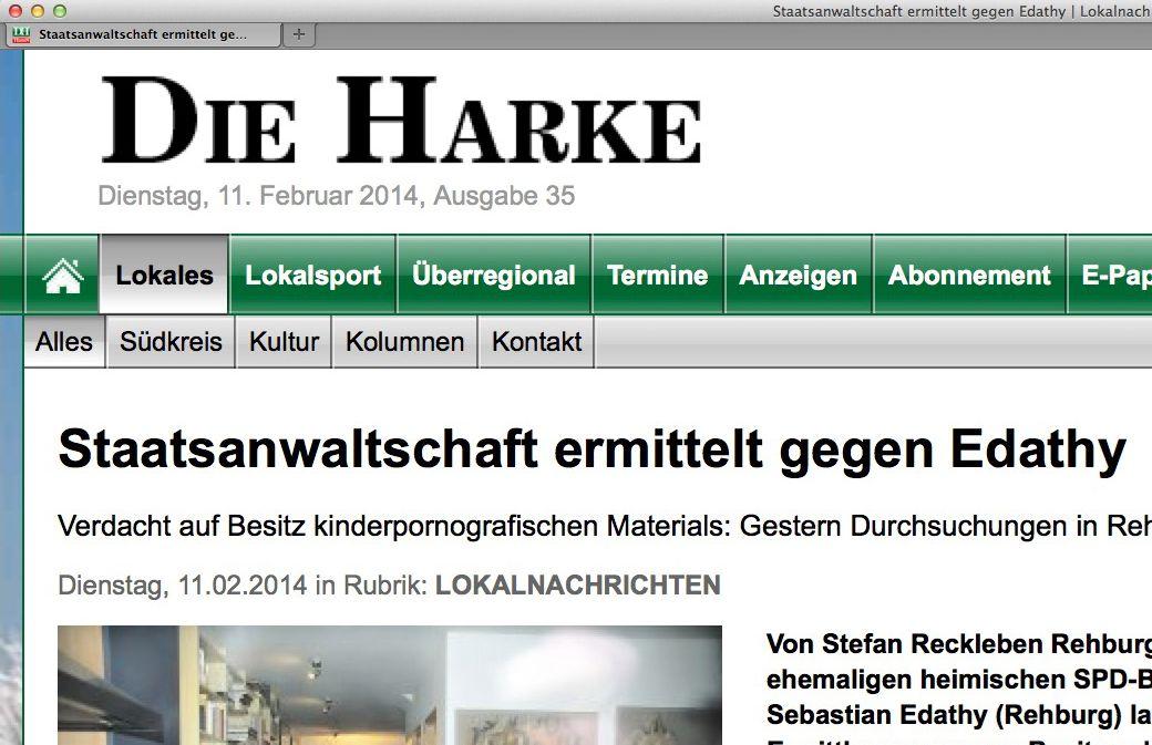 EINMALIGE VERWENDUNG Die Harke/ Edathy SCREENSHOT