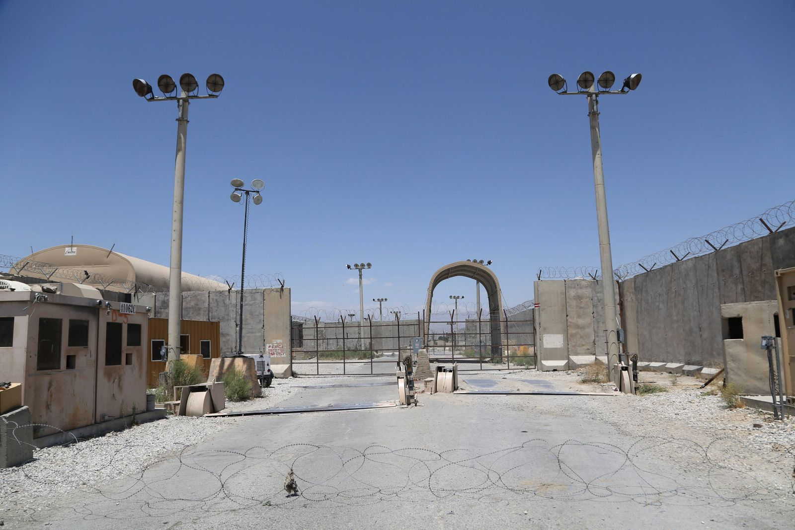 (210702) -- PARWAN, July 2, 2021 -- Photo taken on July 2, 2021 shows the Bagram Airfield after all U.S. and NATO forces