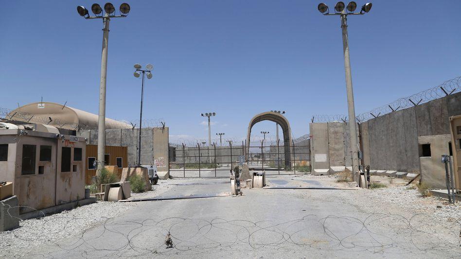 Der Stützpunkt Bagram liegt nun verlassen da