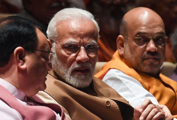 Indiens Premier Modi, Innenminister Shah: Spiel mit dem Feuer