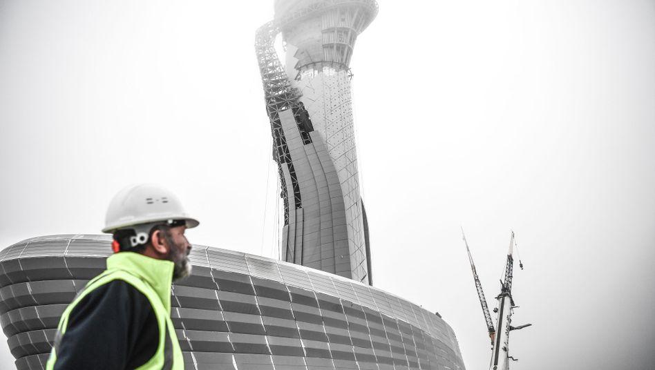 Arbeiter auf der Baustelle in Istanbul (Symbolbild)