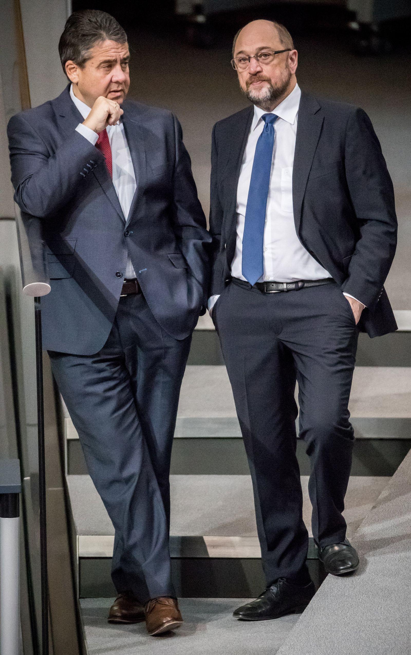 Sigmar Gabriel / Martin Schulz / Bundestag