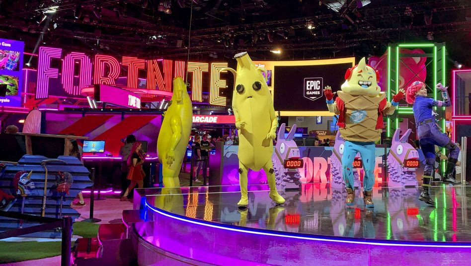»Fortnite«-Stand auf einer Spielemesse: Das Onlinespiel ist der bekannteste selbst entwickelte Titel von Epic Games