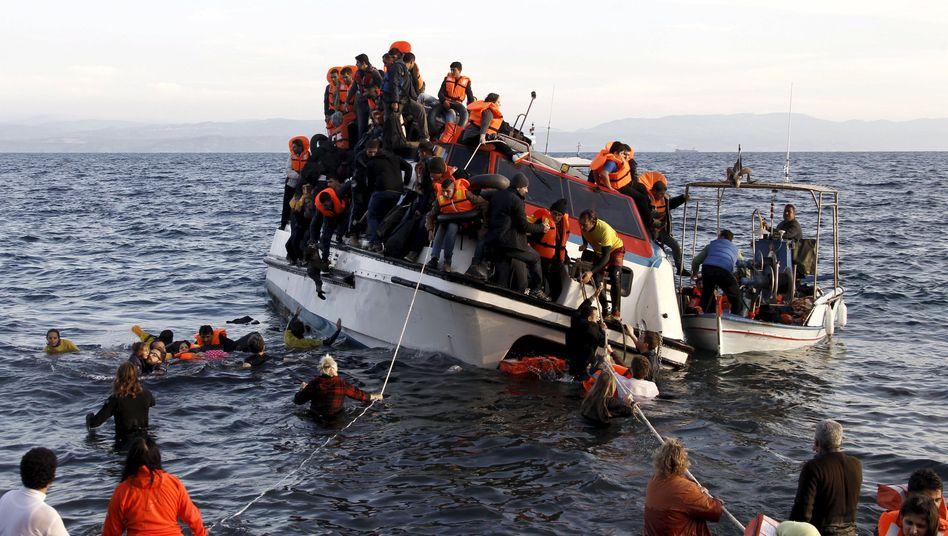 Flüchtlingsboot vor Griechenland: Abschreckung als Prinzip