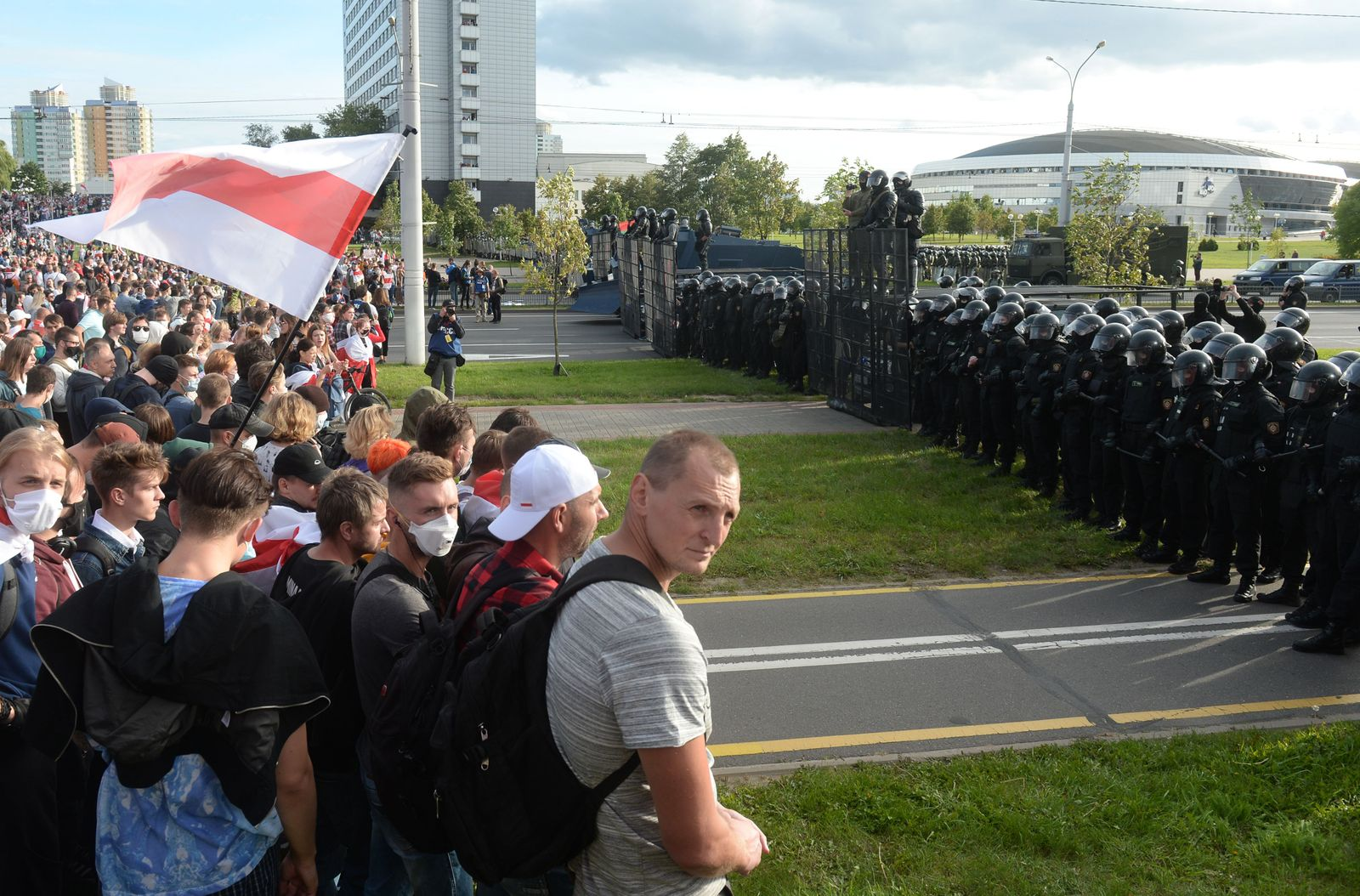 Opposition protests continue in Minsk, Balarus - 13 Sep 2020