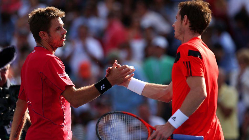 """Stanislas Wawrinka (l.) und Andy Murray: """"Es fühlt sich toll an"""""""