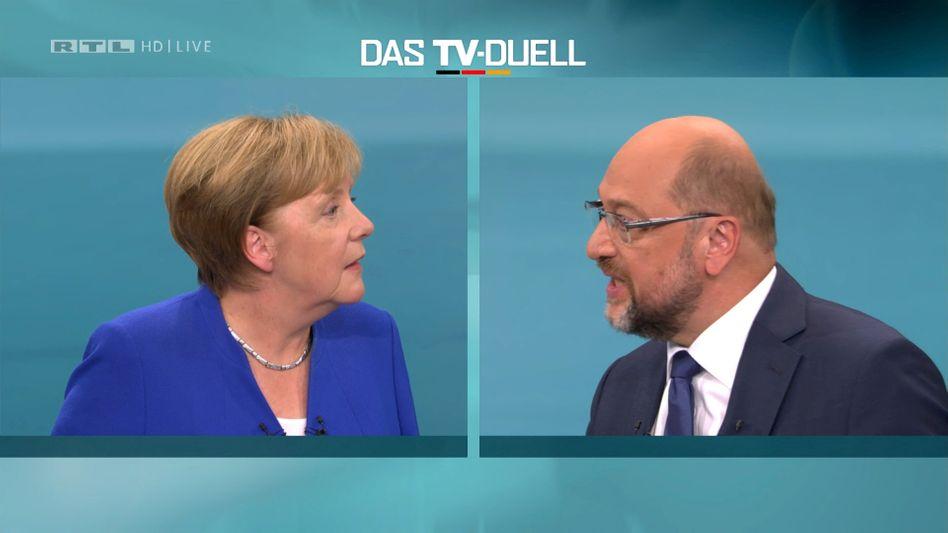TV-Duell zwischen Angela Merkel und Martin Schulz