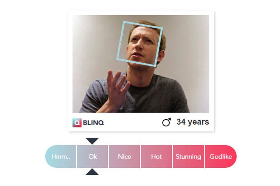 EINMALIGE VERWENDUNG NUR ALS ZITAT Screenshot/ Blinq/ Zuckerberg