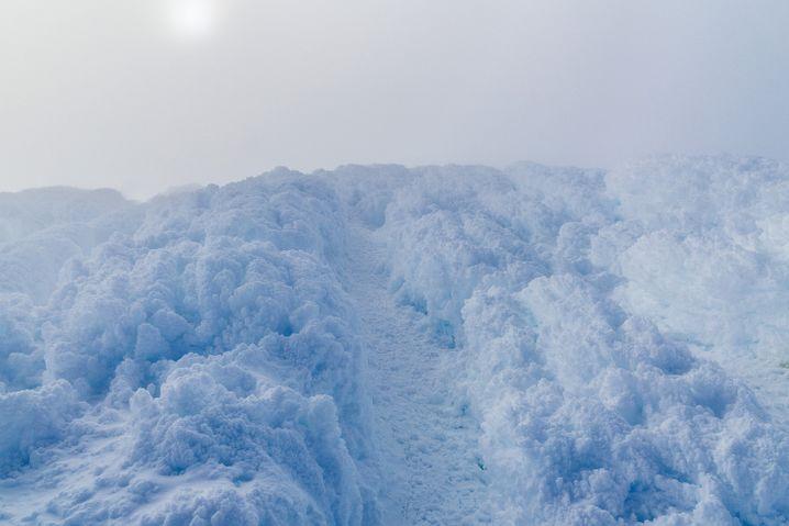 Eisige Höhen am Vulkan