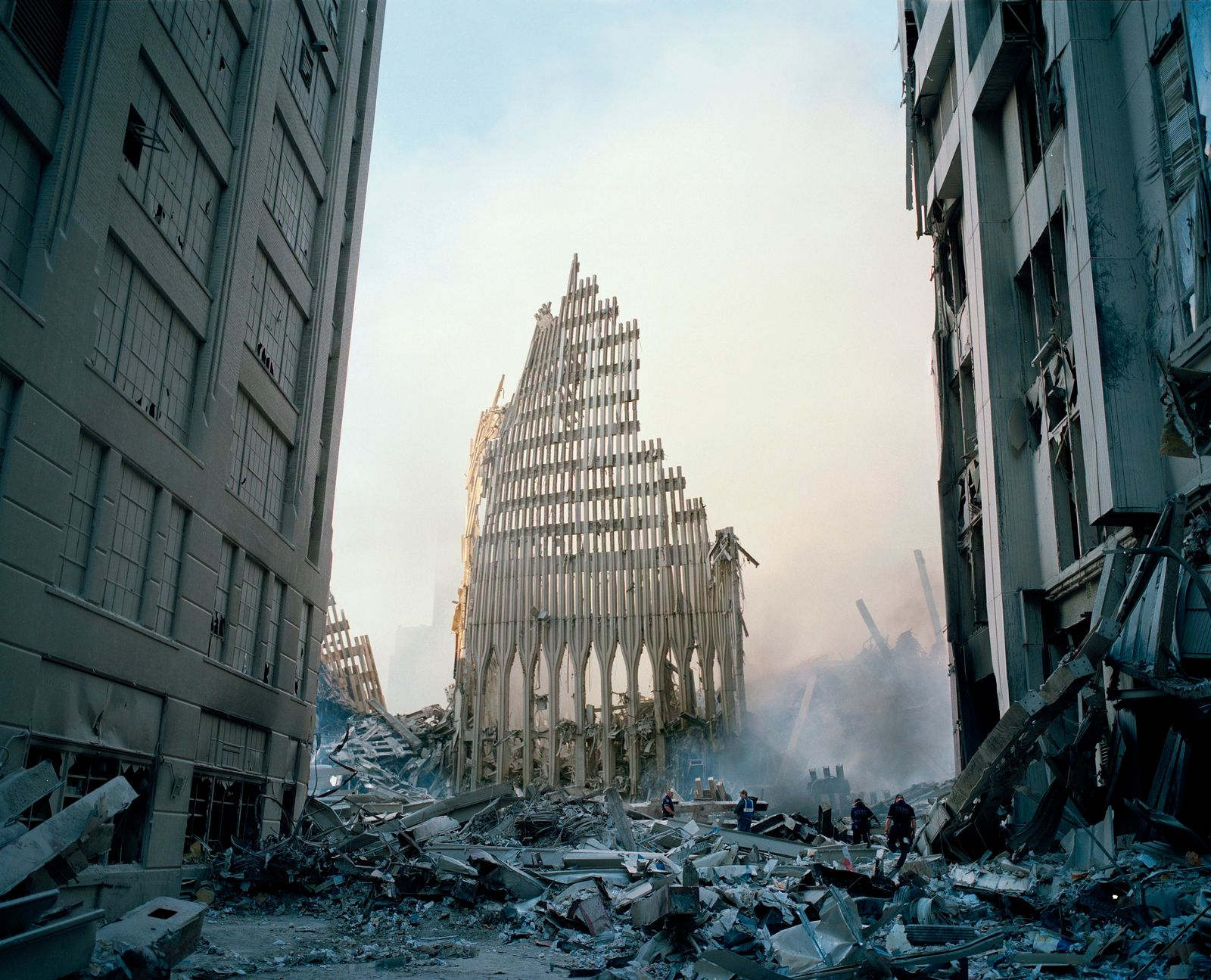 Sept 11, Ruin of Southtower of WTC