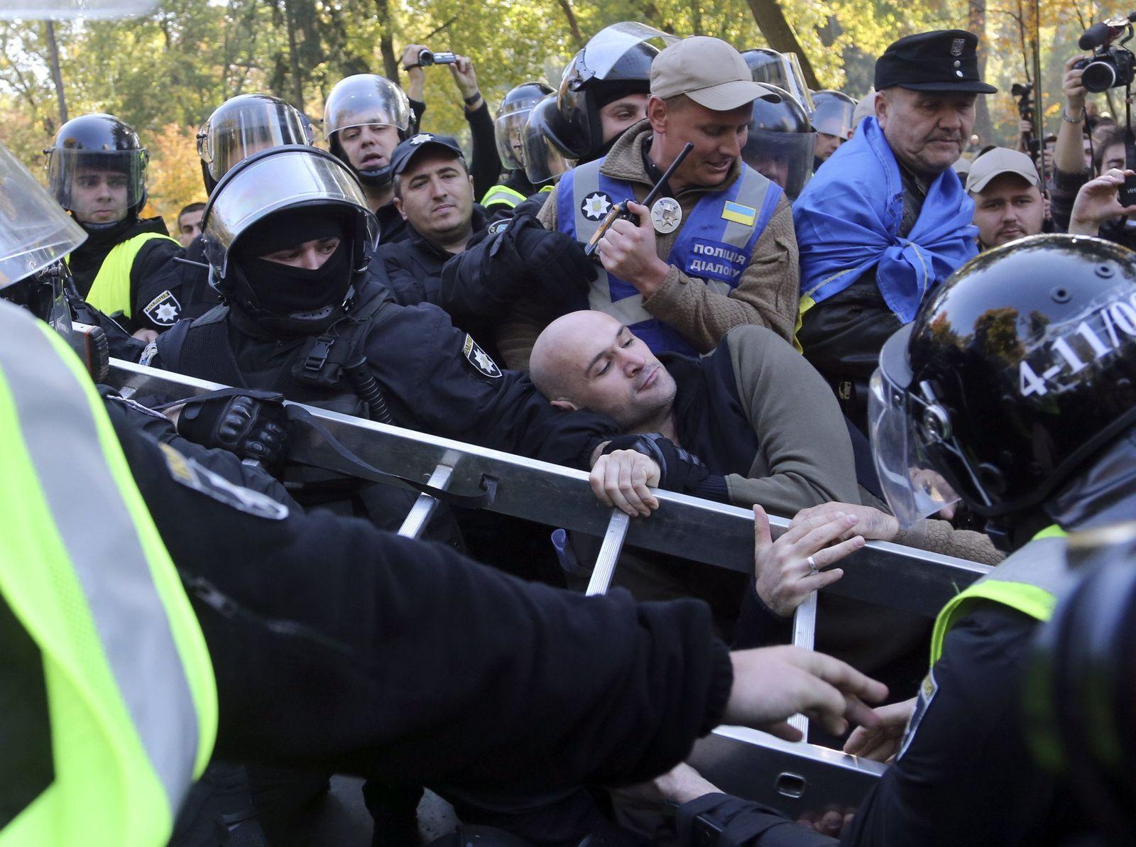 Rechte protestieren in der Ukraine