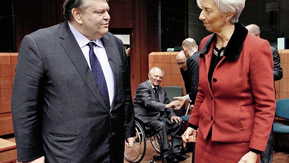 Finanzminister Evangelos Venizelos, IWF-Chefin Lagarde: Unabsehbare Folgen