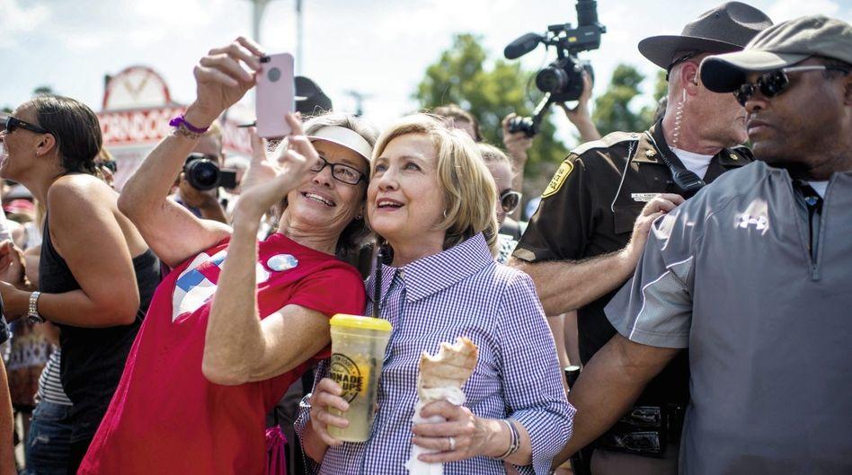 Demokratin Clinton im Wahlkampf in Iowa Sie wollte nichts dem Zufall überlassen