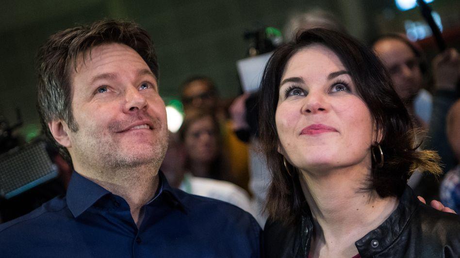 Grünen-Chefs Robert Habeck und Annalena Baerbock (im Januar 2018)
