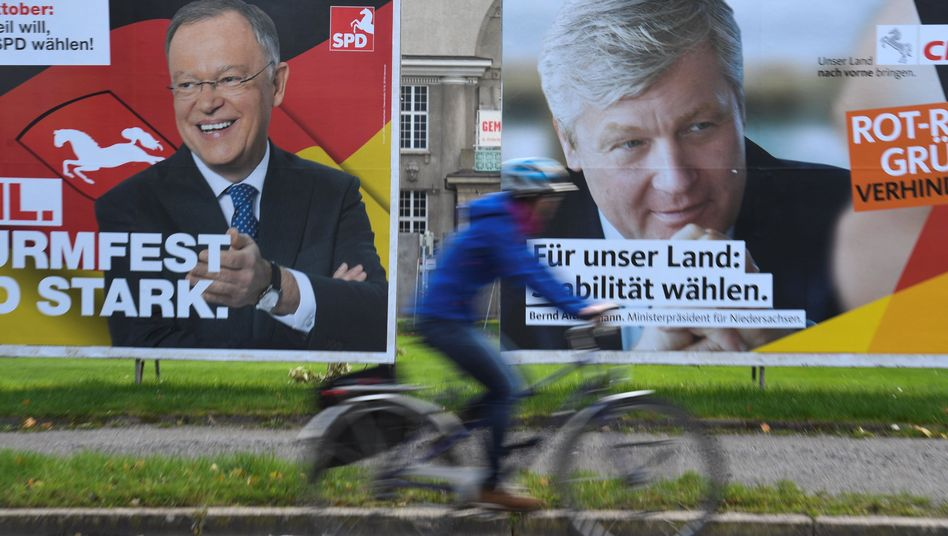 Wahlplakate in Hannover