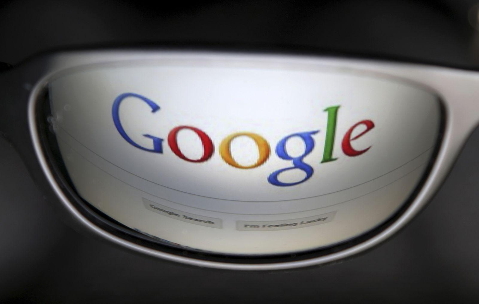 Google Logo/ Brille