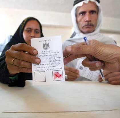 Wahlzettel: Mit Blut abstimmen