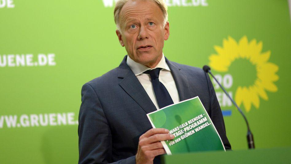 Grünen-Spitzenkandidat Trittin: Abwärtstrend in den Umfragen