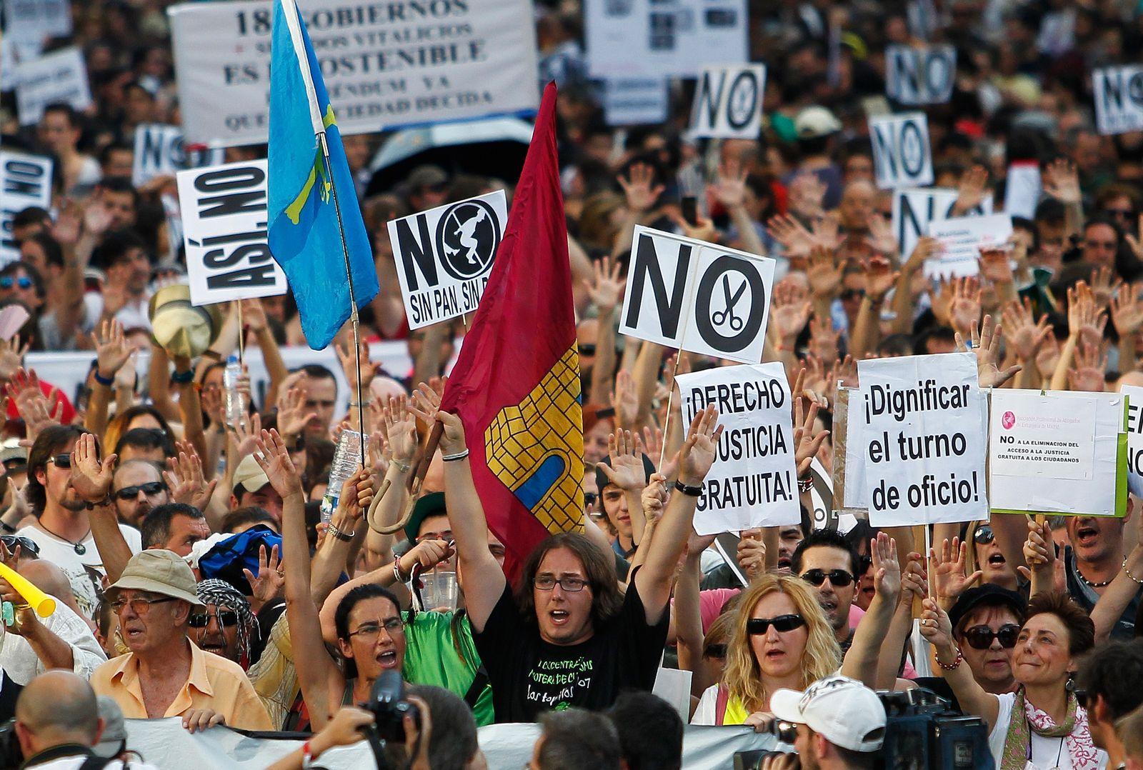 Spanien Proteste Arbeitslose