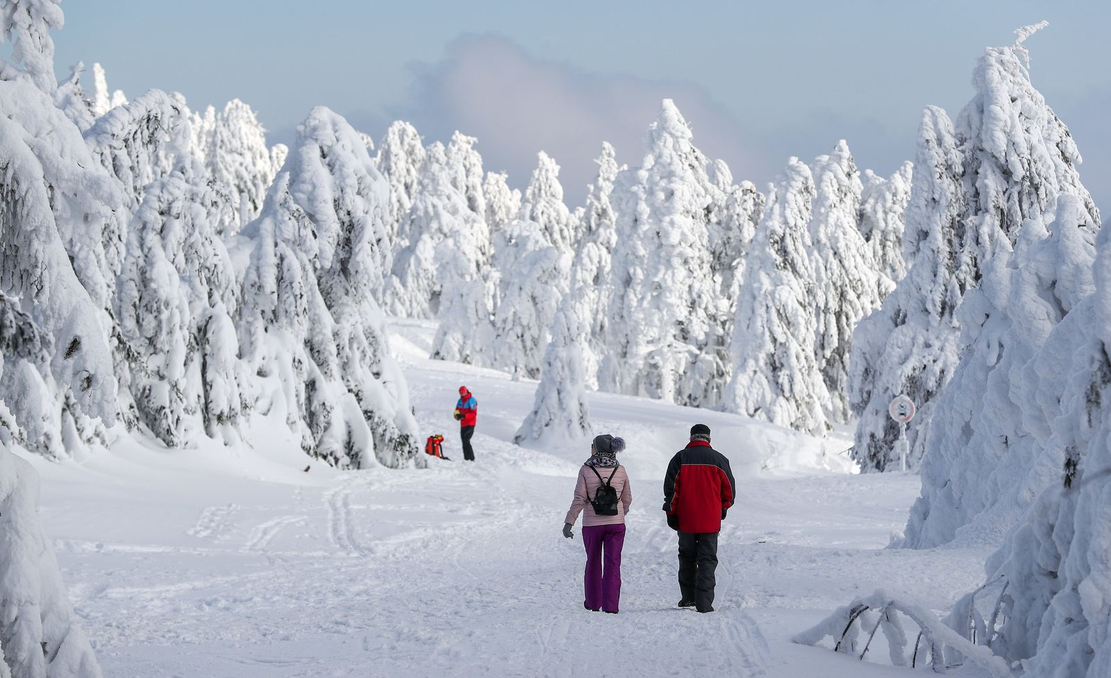 Winterwetter im Erzgebirge