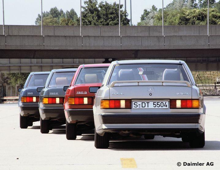 Mercedes-Benz Kompaktklasse-Limousinen, Modelle der Baureihe 201.