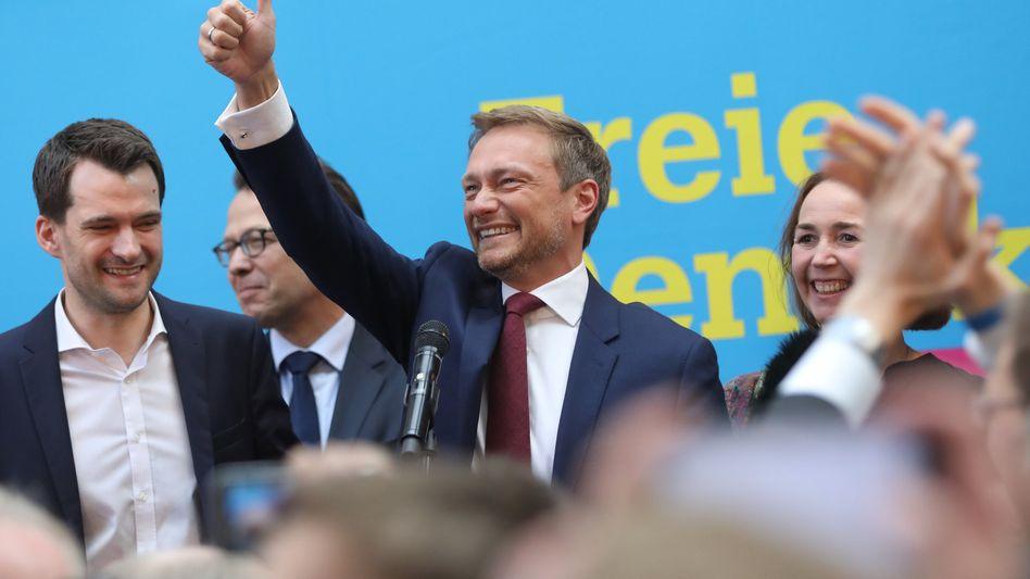 FDP-Chef Lindner (Mitte)