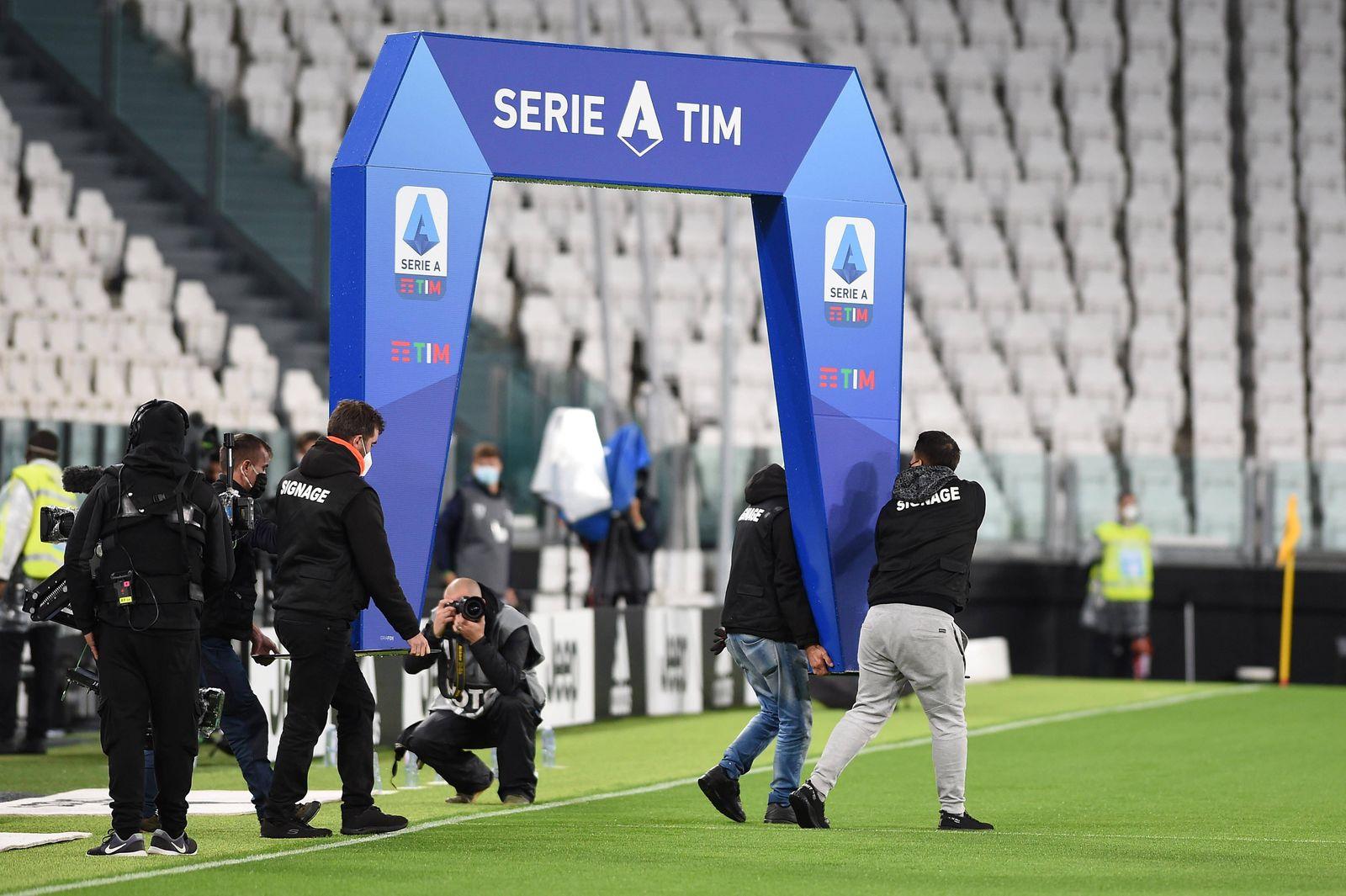 IPP20201004 Football - soccer: Serie A, Juventus Turin - SSC Neapel, il logo lega Serie A (Verwendung nur in Deutschlan